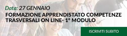 FORMAZIONE APPRENDISTATO COMPETENZE TRASVERSALI ON LINE- 1° MODULO